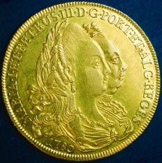 Portugal – Peça in GOLD – D. Maria I and D. Pedro III – 1780 – Lisbon – UNC – AG: 27.06