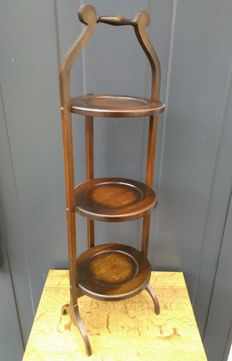 Whatnot - cake stand - solid wood - England - 20th century