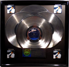 Michael Jackson - Thriller - real US RIAA Platinum Music Award ( goldene Schallplatte)  - original Sales Music Record Award ( Golden Record )