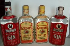 2 Gin Bosford, bottled 1970s & 1980s & 2 Gin Gordon's, bottled 1980s