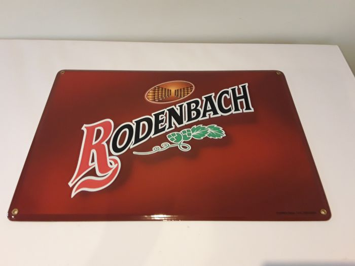 Enamel advertising sign - Rodenbach - 2003