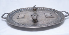 Inkwell - 84 Silver - Decorated Tray - Russia - 1908-1917