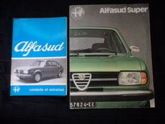 2 Alfa Romeo - Alfasud, 1 x brochure + 1 x user manual