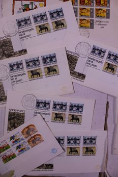 The Netherlands - Batch of ± 5000 FDCs and covers in moving box