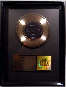 "Roxette - The Look -  7"" US RIAA Sales Music Single Record Award gold record (  golden )"