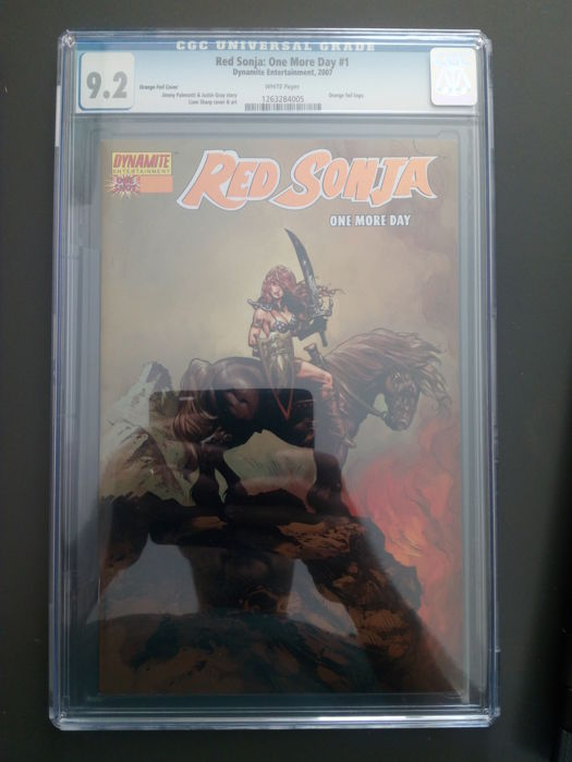 Dynamite Entertainment - Red Sonja: One More Day #1 - Orange Foil Logo Variant Cover - CGC Graded 9.2 - 1x sc - (2013)