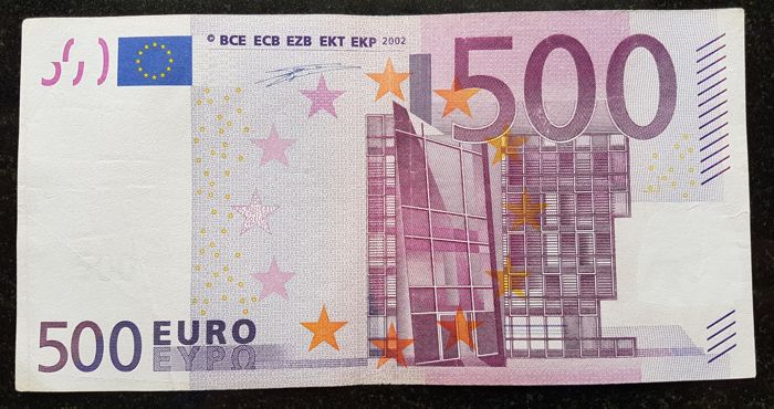 European Union - Germany - 500 Euro 2002 - DUISENBERG - White Box  without HOLOGRAM  -  ERROR  note