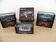Minichamps / Norev  - Scale 1/43 - lot with 6 models: 6 x Opel