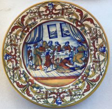 Giovanni Battista Ronconi - Decorated majolica plate