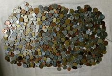 World - collection of various coins (ca. 1000 pieces)