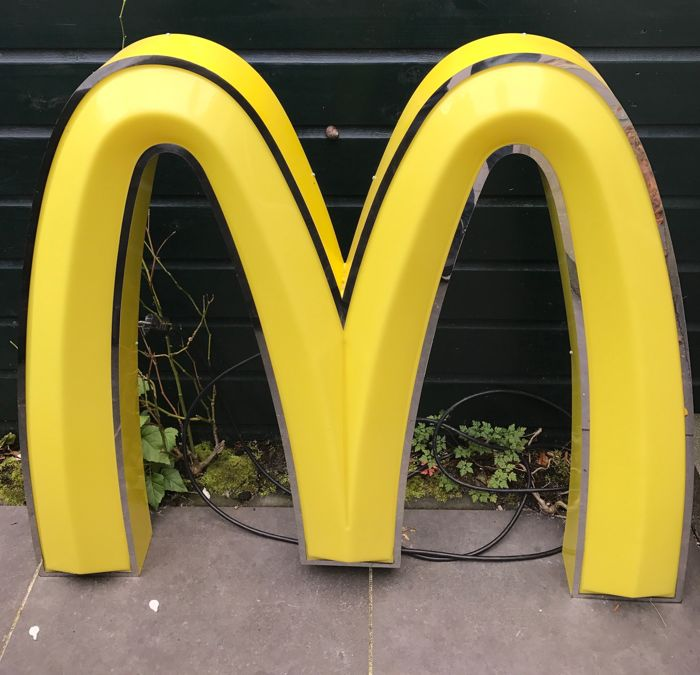 Mc Donalds M golden arches - large size, hand-made 1980