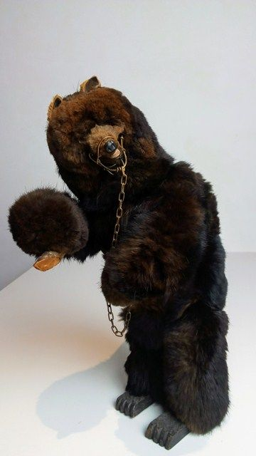 Automat Bear with winding mechanism, Roullet & Decamps, France, around 1900