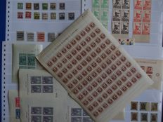 Spain 1936–1939 - Civil War. Lot with patriotic and local stamps.