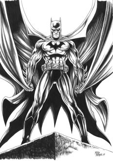 DC Comics - Batman By Mike Ratera - Original Drawing