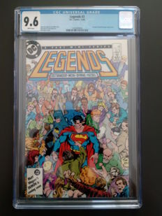 DC Comics - Legends #2 - John Byrne - CGC 9.6 - 1x SC - (1986)
