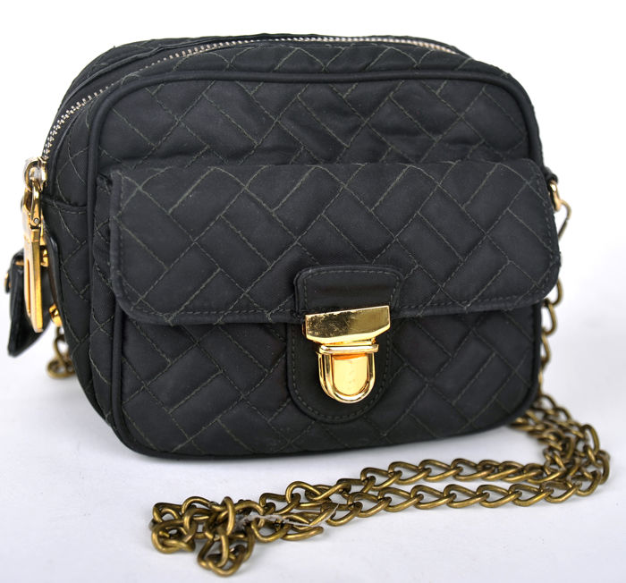 46b949f6a5 Prada - Nylon shoulder bag with chain strap - **No minimum price ...