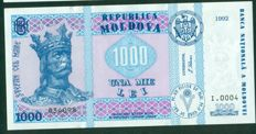 Moldova - 500 and 1000 Lei 1992 - Pick 17 and 18