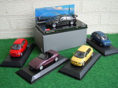 Minichamps - Scale 1/43 - Lot with 5 x BMW - Z1, M3 GTR & 3X E1