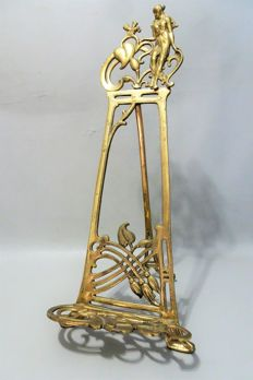 Bronze easel for painting or book - early 20th century