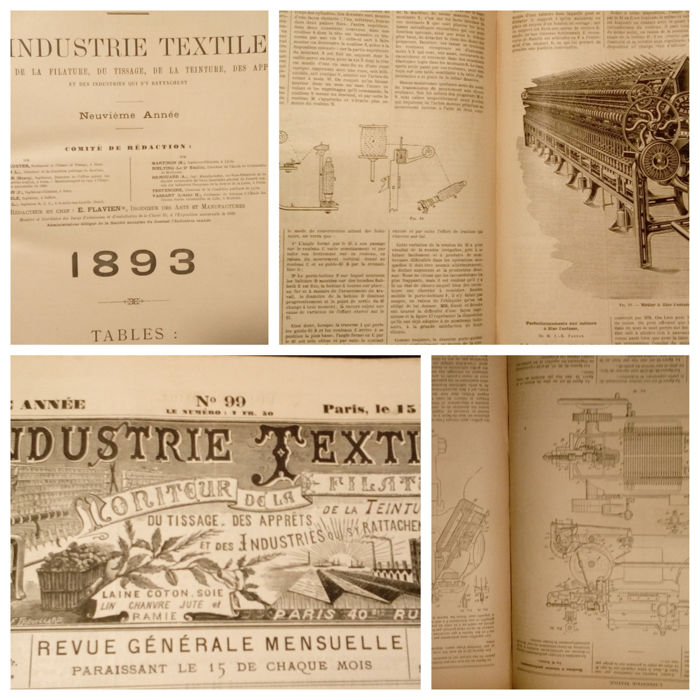 L'Industrie Textile - 12 volumes in one - 1893