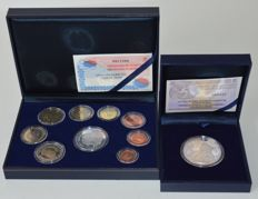 "Spain - Year pack 2002 and 10 Euro 2011 ""Murillo"" - silver"