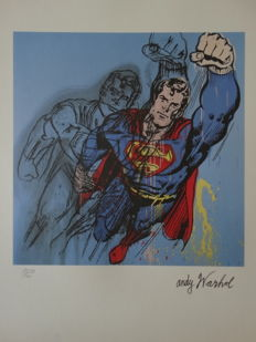 Superman By Andy Warhol (after) - Signed And Numbered