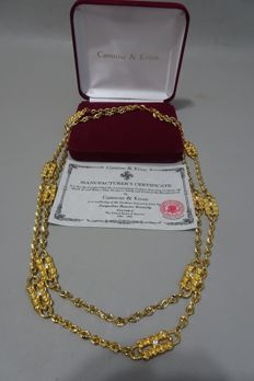 Camrose & Kross - Jackie Kennedy - paperclip necklace with Box & Certificate of Authenticity