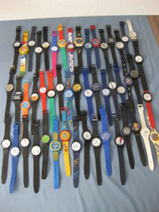 Great collection of 50 advertising watches
