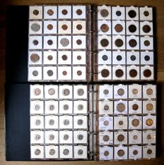 Europe - collection of various coins 1863/1994 (760 different), including 20 x silver, in two albums.