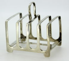 Solid silver four slot toast rack - James Dixon & Sons Ltd - Sheffield - 1918