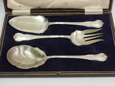 3 Piece Servery Set With Original Case By Francis Howard c. 1870 - 1886