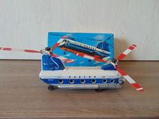 Daiya, Japan - Length 21 cm - Tin friction Sabena Wold Airlines Boeing-vertol 107 Helicopter, 1960s