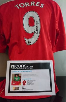Fernando Torres hand signed Liverpool shirt with Icons COA