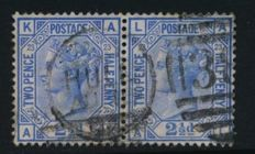 Great Britain, Queen Victoria - Selection on stock cards