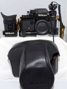 Nikon F2 Photomic Black with various accessories