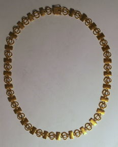 Lapponia gold necklace by Björn Weckström - 14 K yellow gold, 21 g, 43,5 cm