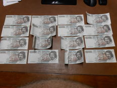 Italy - 16 x 100000 lire Caravaggio I type 16 different notes