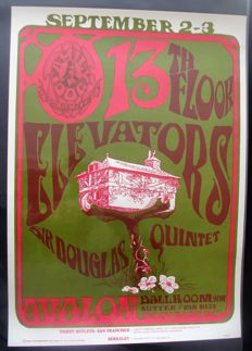 "13th Floor Elevators Family Dog  Poster San Francisco ""Tree House""  Stanley Mouse 1966"
