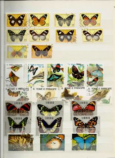 Theme Butterflies - Collection in 3 stock books