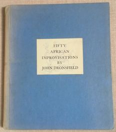 Fifty African Improvisations by John Dronsfield genummerde editie No 19.
