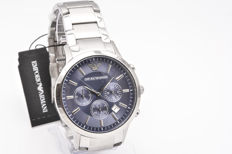 Emporio Armani men's chronograph with steel casing and wristband