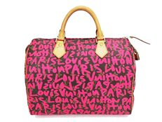 Louis Vuitton – Graffiti Speedy 30 Monogram bowling bag – Stephen Sprouse – Collector's bag