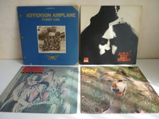 "Lot with 4 psychedelic / progressive rock albums: Darryl Way's Wolf ""Canis Lupus , Clark Hutchinson ""A=MH2"", Jefferson Airplane ""Flight Log"", Love ""Four sail"""