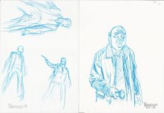 Brindisi, Bruno - 2x sketches Dylan Dog and Ispettore Bloch (2015)