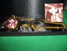 John Wayne Pocket Watch incl. Chain - In Luxury Packaging - Limited Edition, no. 933 of 1000 - Gold-coloured