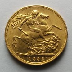 Australia – Sovereign 1892 M (Melbourne) - Victoria – Gold