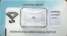 Natural Fancy Pinkish Grey Diamond 0.12 ct  with IGI cert *** no minimum price***