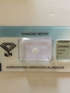 0.30 ct. heptagonal modified step cut I VS2