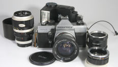 Praktica MTL5 set with 2 lenses, flash and acc.