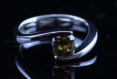 18K Diamond ring, 1.20 ct.  - Ring size 54.5/17.50 mm - No Reserve